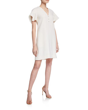 aad915fa8e57 Lela Rose Handkerchief-Sleeve Tunic Dress