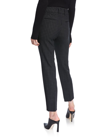 Piazza Sempione Kim Windowpane Ankle Trousers