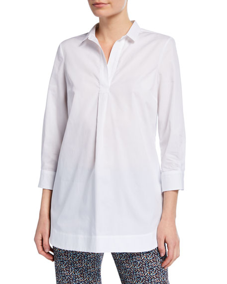 Piazza Sempione Poplin Henley Shirt