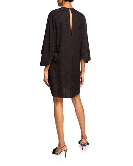 Johanna Ortiz Batwing-Sleeve Jacquard Mini Dress