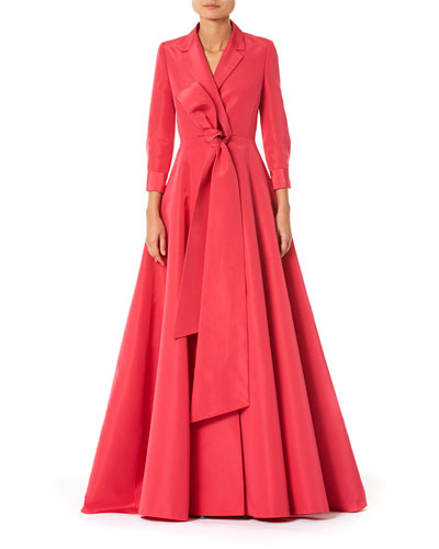 Notched Lapel Trench Gown