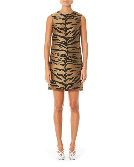 Carolina Herrera Tiger Print Mikado Shift Dress