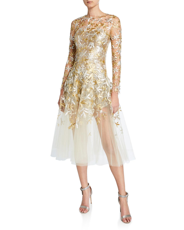 Golden Leaf Tail Dress