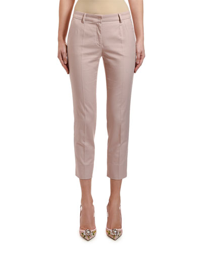 Stretch-Cotton Ankle Pants