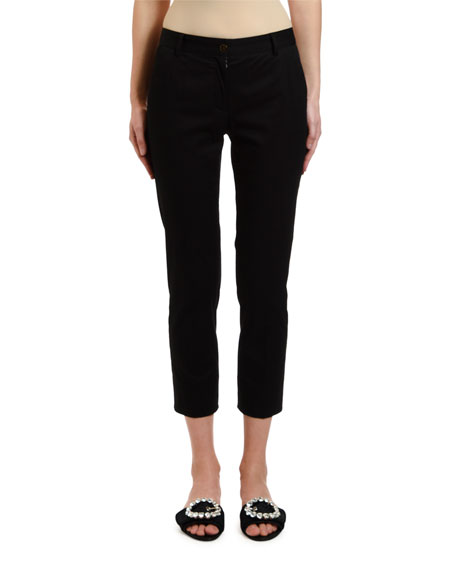 Dolce & Gabbana Stretch-Cotton Gabardine Ankle Pants