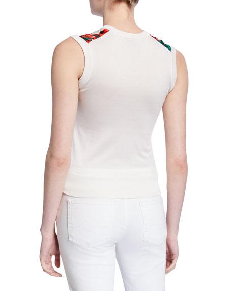 Dolce & Gabbana Geranium-Print Twill-Front Shell