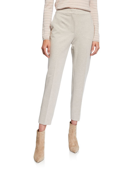 Maxmara Jersey Slim-Leg Ankle Pants
