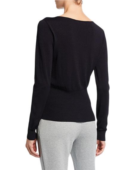 Maxmara Long-Ssleeve Jersey Ribbed Sweater