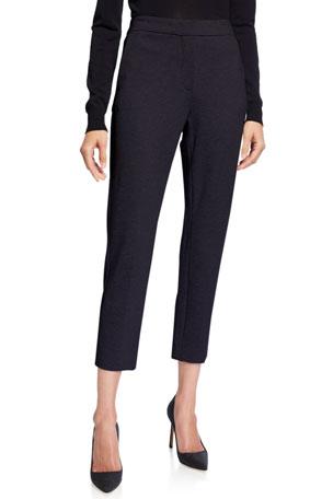 Maxmara Jersey Zip-Front Pants
