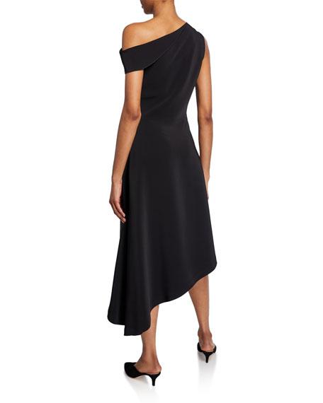 Rosetta Getty Folded One-Shoulder Handkerchief Dress