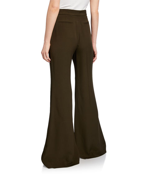 Rosetta Getty Straight Flare Leg Trousers