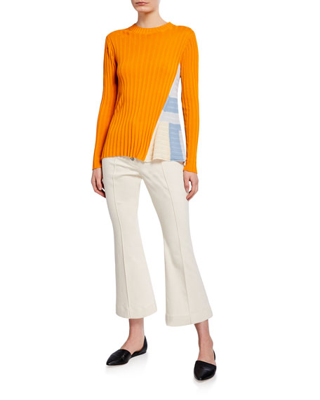 Rosetta Getty Cropped Flare Jeans