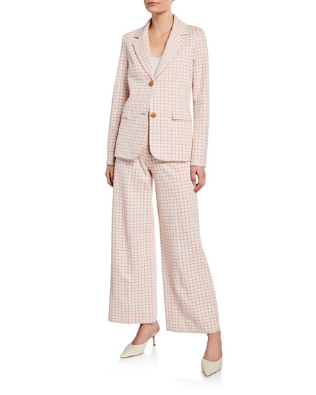 Rosetta Getty Grid Interlocked Trousers