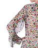 Akris punto Pixel-Print Ruffled-Sleeve Blouse