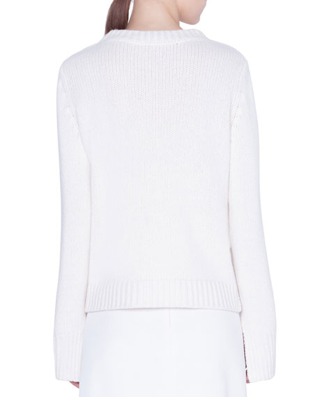 Akris punto Cashmere Pixel-Intarsia Sweater