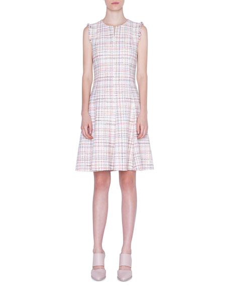 Akris punto Sleeveless Tweed A-Line Dress