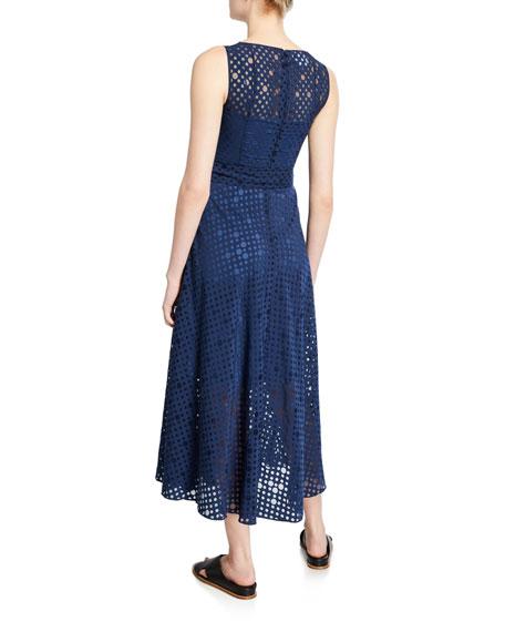 Akris punto Jersey Organza-Dotted Dress
