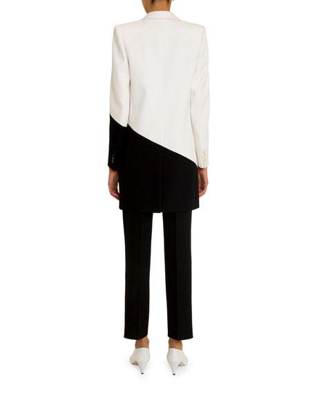 Givenchy Asymmetric Bicolor Long Blazer