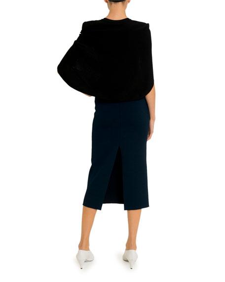 Givenchy Crepe Capelet Midi Dress
