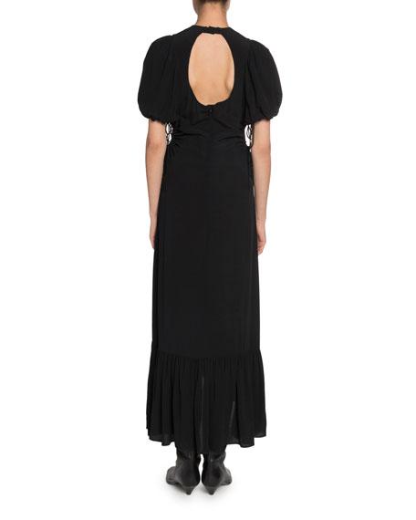 Proenza Schouler Drawstring Side-Cutouts Dress