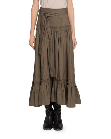 Proenza Schouler Belted Drop-Waist Maxi Skirt