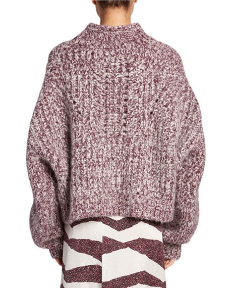 Image 2 of 2: Jarren Chunky Turtleneck Sweater