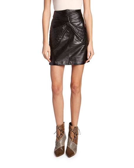 Isabel Marant Chaz Leather Twisted Skirt