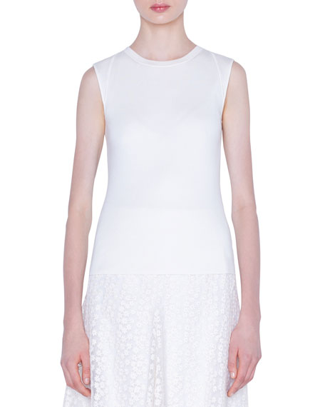 Akris Stretch Silk Sleeveless Sweater