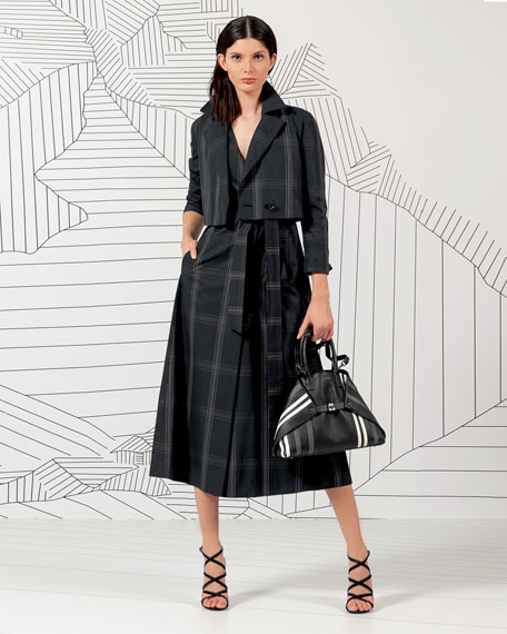 Akris Edina Cotton Poplin Two-in-One Coat