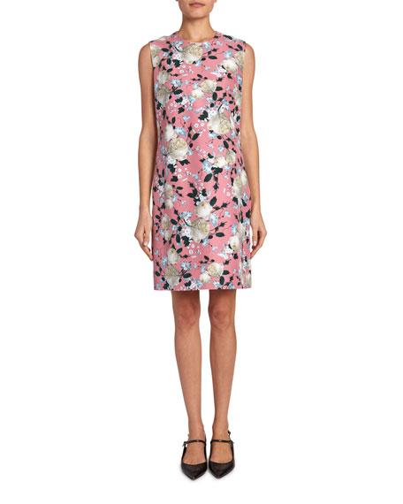 Erdem Rivanna Floral Short-Sleeve Dress