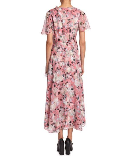 Erdem Kristie Floral Georgette Dress