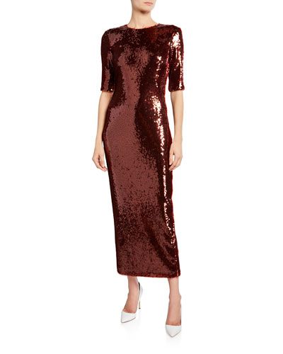 Stretch Sequined Dress