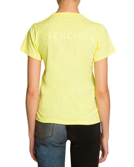Balenciaga Short-Sleeve Logo Tee