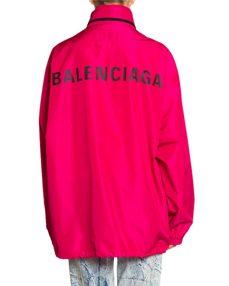 Balenciaga Hooded Wind-Resistant Jacket