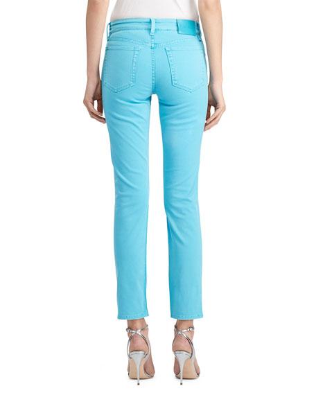 Ralph Lauren Collection 400 Matchstick Garment-Dye Jeans Turquoise