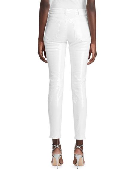 Ralph Lauren Collection 400 Matchstick Sequined Jeans
