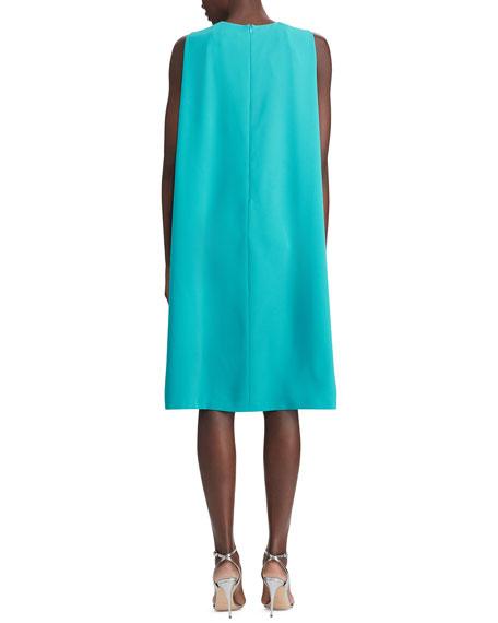 Ralph Lauren Collection Aviana Belted Cape Dress