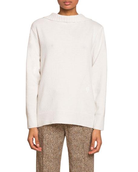 Chloe Cashmere Open-Back Sweater