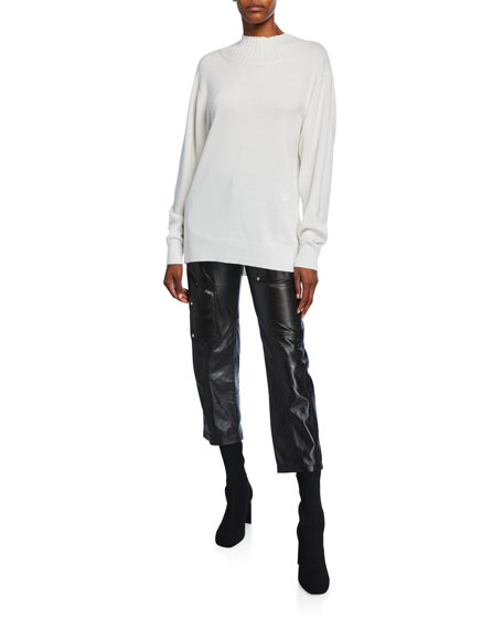 Chloe Leather Cropped Pants