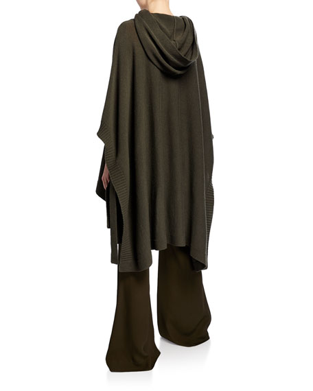 Rosetta Getty Hooded Poncho Sweater