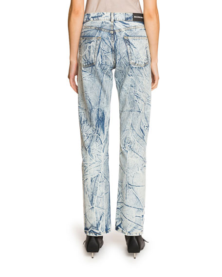 Balenciaga Acid-Washed Straight Leg Jeans