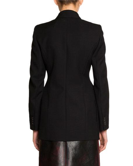 Balenciaga Single-Breasted Gabardine Hourglass Jacket