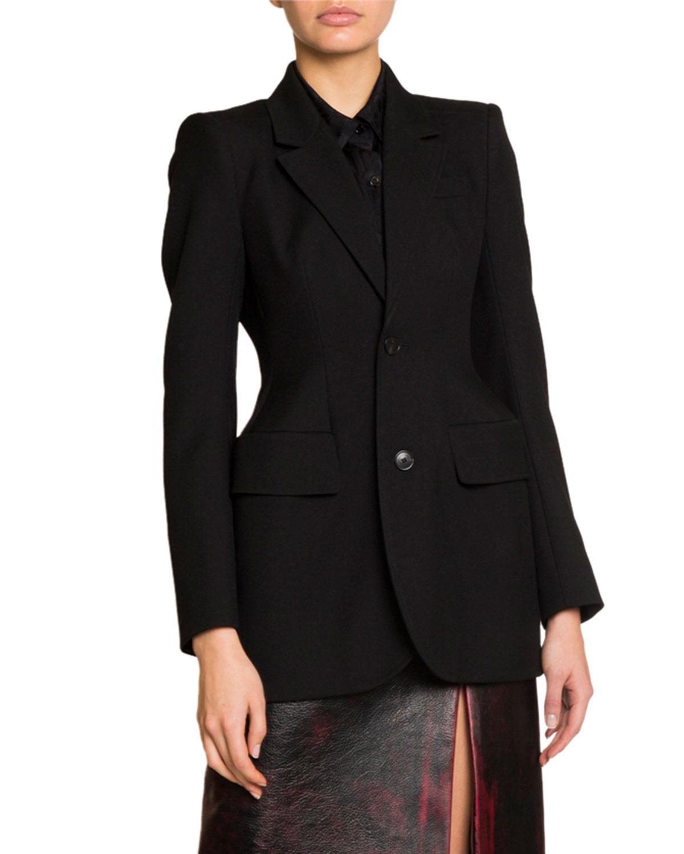 Single Breasted Gabardine Hourglass Jacket by Balenciaga