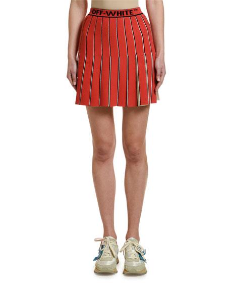 Off-White SWANS Collegiate Cheerleader Skirt