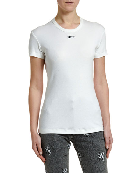 Off-White Fitted Short-Sleeve Logo Tee