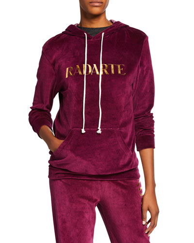 Radarte Hooded Velour Sweatshirt