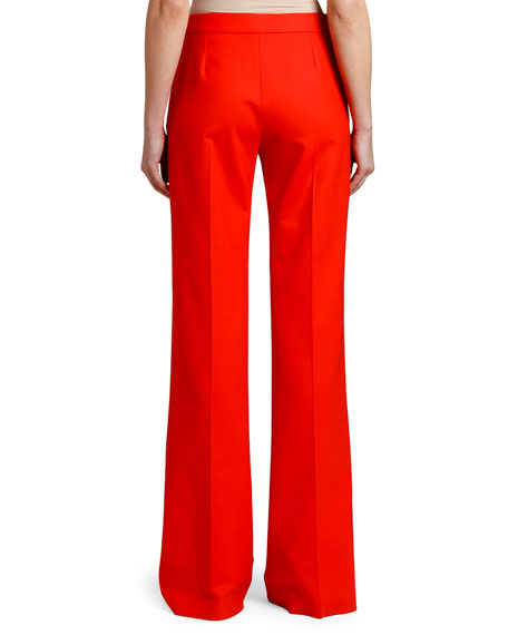 Stella McCartney Wide-Leg Stretch-Wool Pants