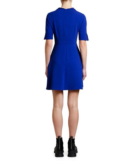 Stella McCartney 1/2-Sleeve Cady Shirtdress