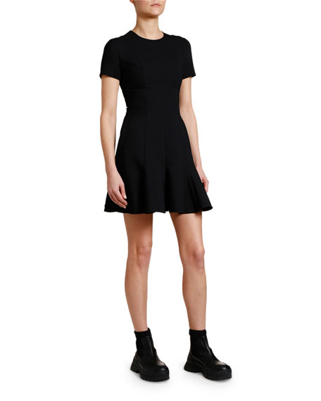 Stella McCartney Flirty-Hem Cady Mini Dress