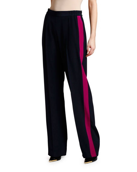 Stella McCartney Racer Side-Striped Pull on Pants